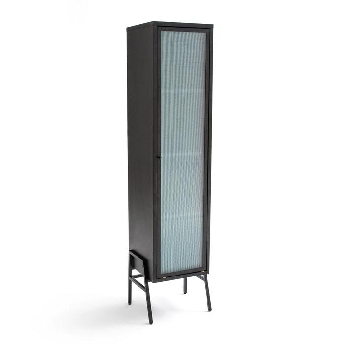 Kast met 1 deur in metaal en glas poda zwart La Redoute Interieurs ...
