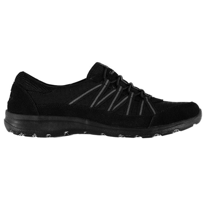 Chaussures décontractées à lacets noir/gris charbon Skechers