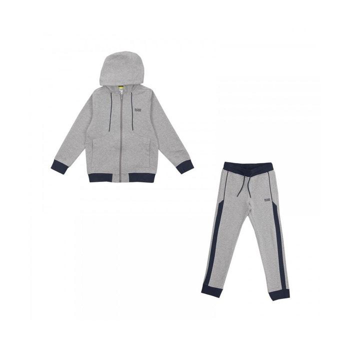 14a56ad34ba Ensemble de survêtement junior coton gris Hugo Boss