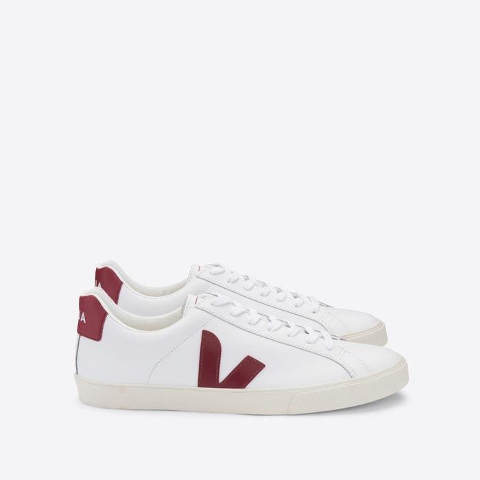 Esplar-logo leather trainers , white