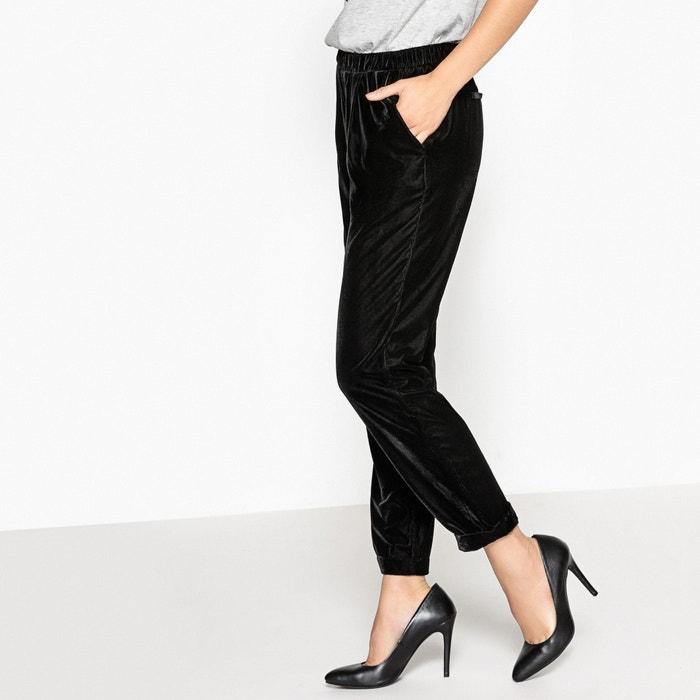 Image Spodnie typu jogpant z gładkiego weluru La Redoute Collections