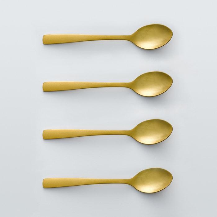 Confezione da 4 cucchiaini da caffè finitura dorata, AUBERIE  La Redoute Interieurs image 0
