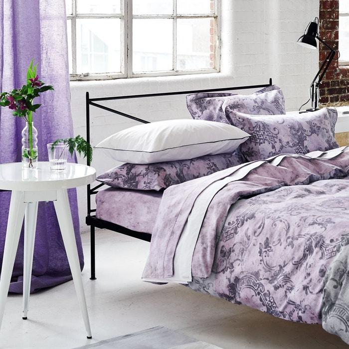 drap housse en satin de coton filigriana am thyste am thyste designers guild la redoute. Black Bedroom Furniture Sets. Home Design Ideas