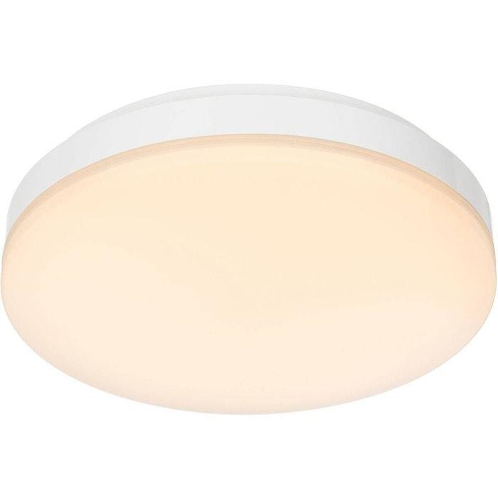 Plafonnier salle de bain led volare blanc en métal blanc Keria | La ...