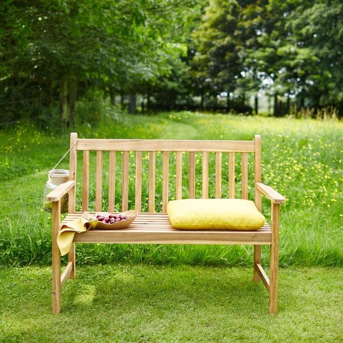 banc en bois d 39 acacia 120cm bois clair bois dessus bois dessous la redoute. Black Bedroom Furniture Sets. Home Design Ideas