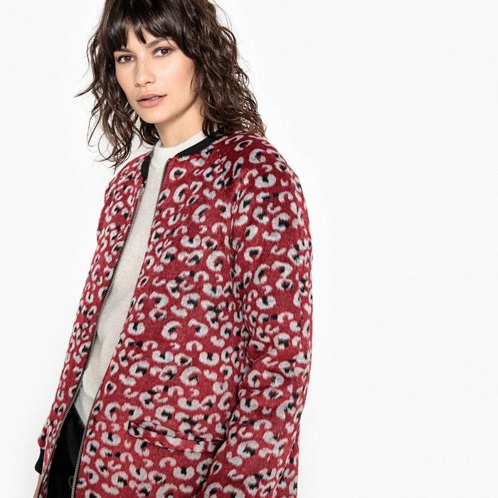 Faux Fur Leopard Print Coat  La Redoute Collections image 0
