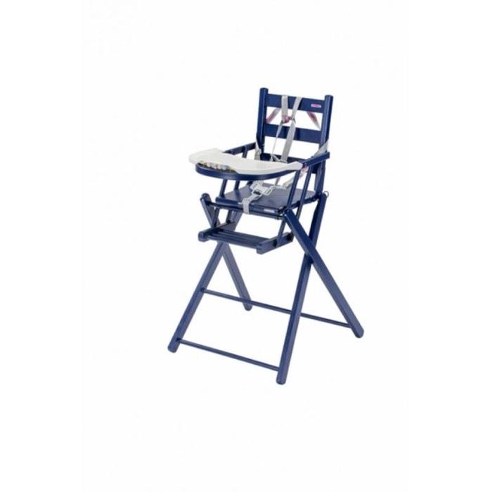 chaise haute b b sarah extra pliante laqu e bleu combelle combelle la redoute. Black Bedroom Furniture Sets. Home Design Ideas