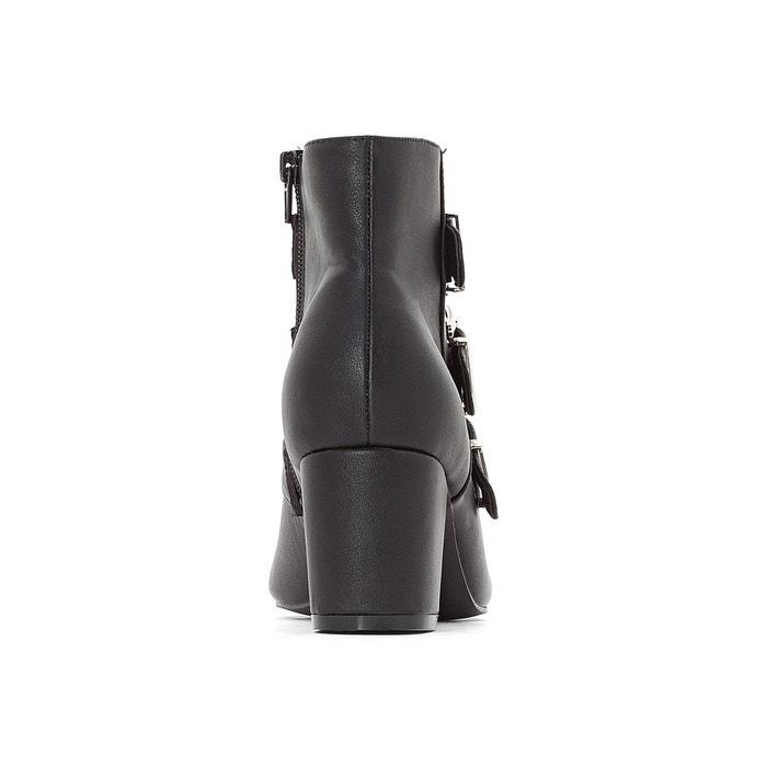 Boots triple boucle noir La Redoute Collections