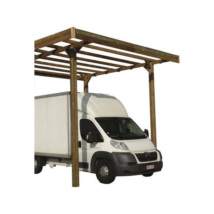 carport base 3 x 5 hauteur 4 m trait autoclave bois. Black Bedroom Furniture Sets. Home Design Ideas