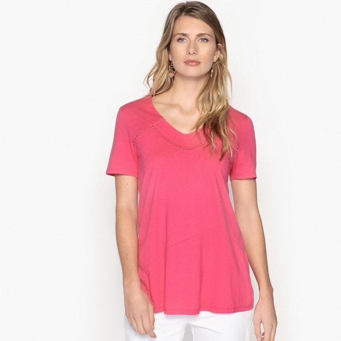 T-shirt con scollo a V tinta unita, maniche corte  ANNE WEYBURN image 0