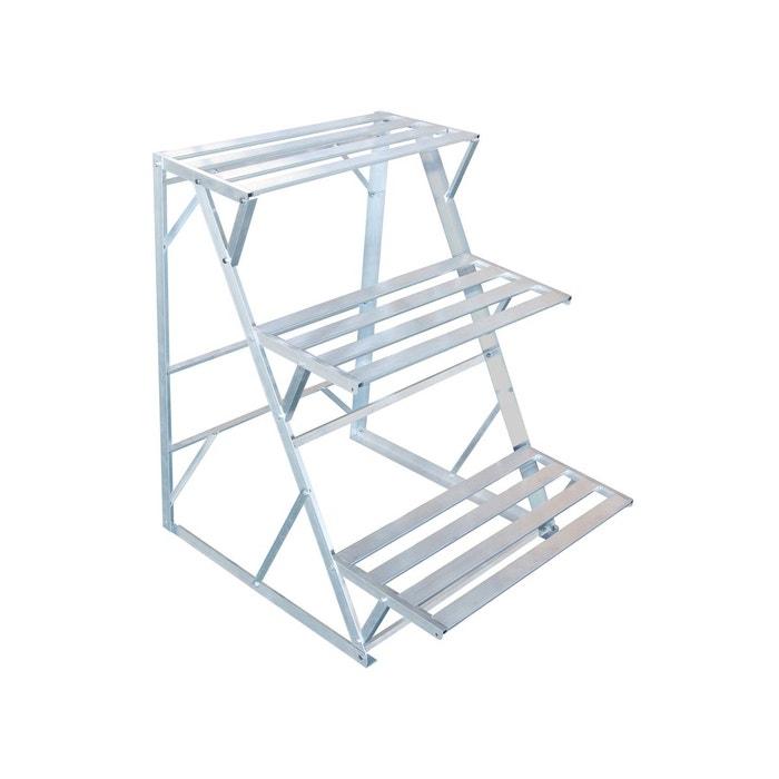 tag re pour plantes de jardin hortensia 3 marches en aluminium habitat et jardin la redoute. Black Bedroom Furniture Sets. Home Design Ideas