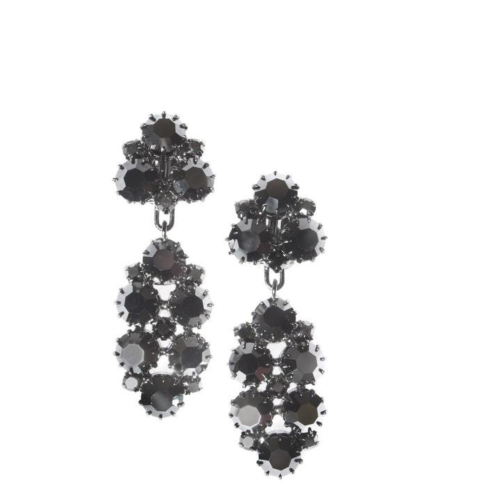 Boucles d'oreilles clip mini solvegue hématite argent argent Reine Rosalie | La Redoute