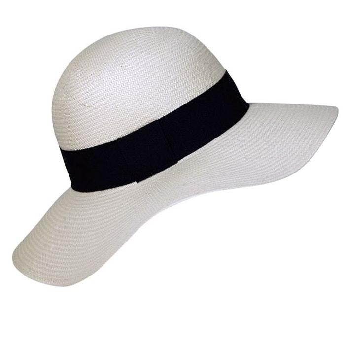 capeline panama femme noir chapeau tendance la redoute. Black Bedroom Furniture Sets. Home Design Ideas
