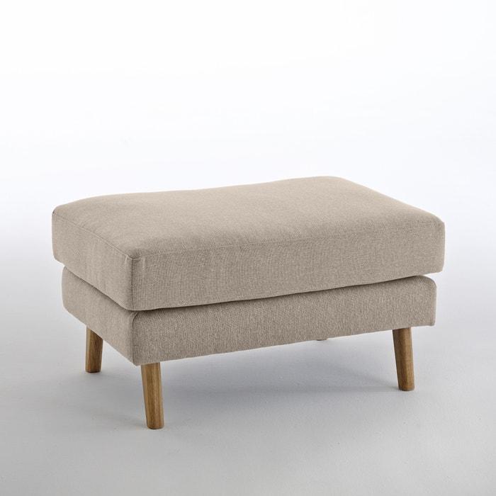 Image Pouf polyester chiné Stockholm, confort Excellence La Redoute Interieurs