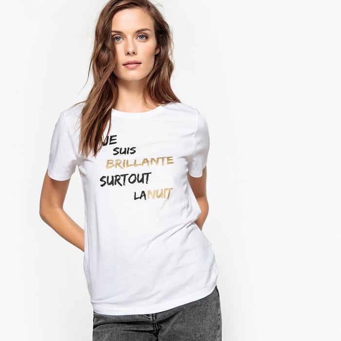 Image T-shirt con scritta per le feste La Redoute Collections