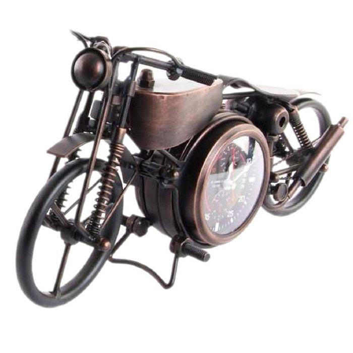 pendule en m tal forme moto couleur cuivre united labels la redoute. Black Bedroom Furniture Sets. Home Design Ideas
