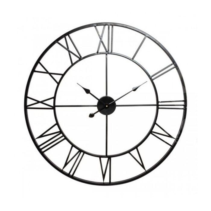 horloge murale l 39 ancienne en fer forg noir noir wadiga la redoute. Black Bedroom Furniture Sets. Home Design Ideas