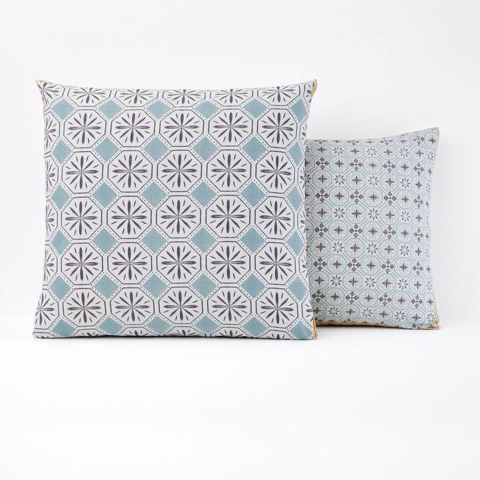 taie d oreiller coton salernes imprim gris la redoute interieurs la redoute. Black Bedroom Furniture Sets. Home Design Ideas