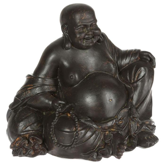 Statuette bouddha rieur marron atmosphera la redoute for Jardin zen atmosphera