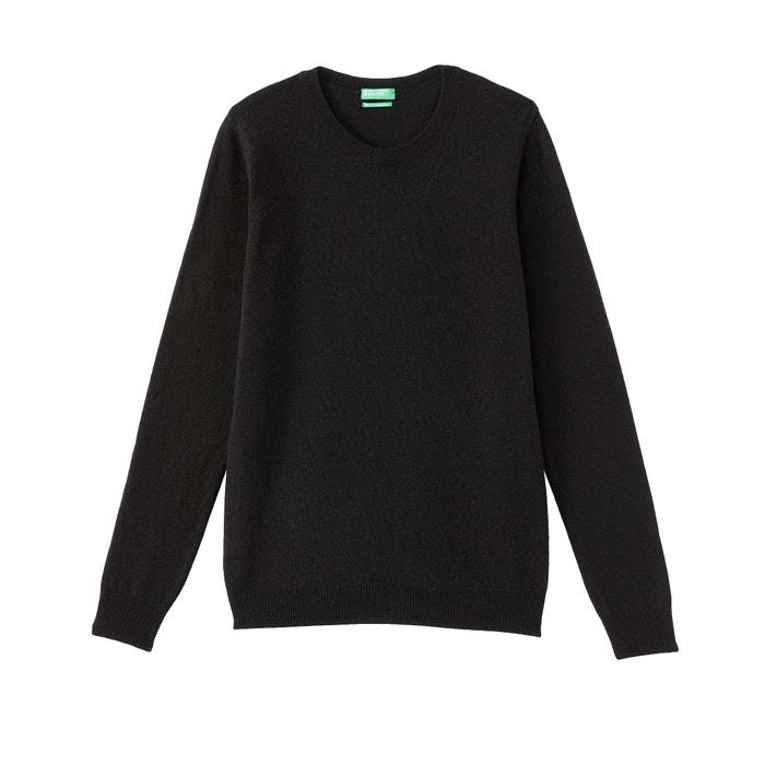 Pull in lana scollo rotondo in maglia fine Benetton  9976ff7601c