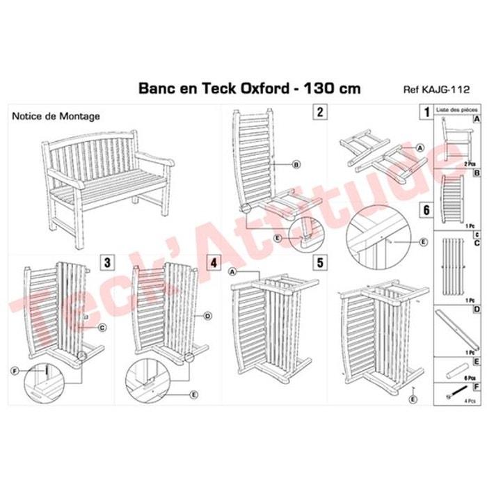 Banc en teck ecograde oxford 130 cm naturel Teck Attitude | La Redoute