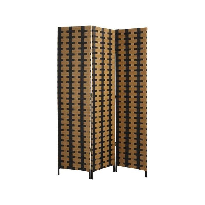 paravent en bois et corde marron aubry gaspard la redoute. Black Bedroom Furniture Sets. Home Design Ideas
