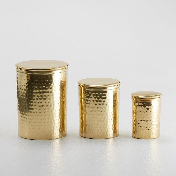 Pots gigognes, laiton, Erledur, lot de 3  La Redoute Interieurs image 0