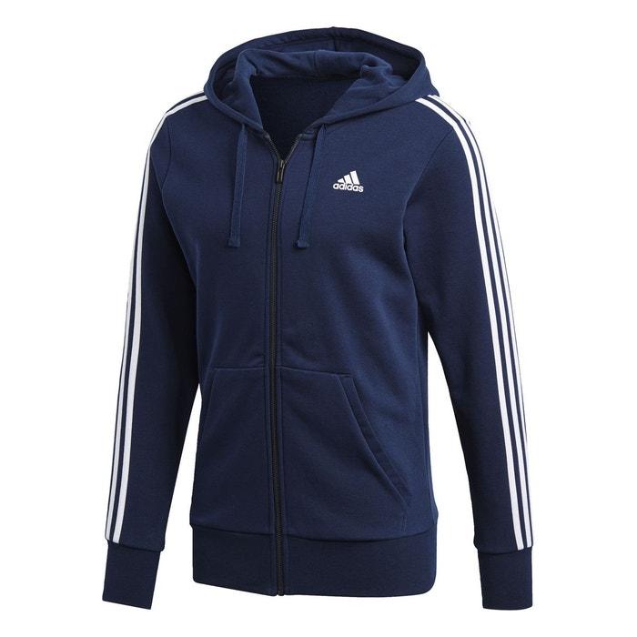 Adidas Fz Bleu French 3 Terry Homme Hood Stripes Veste Essentials PwaROqa