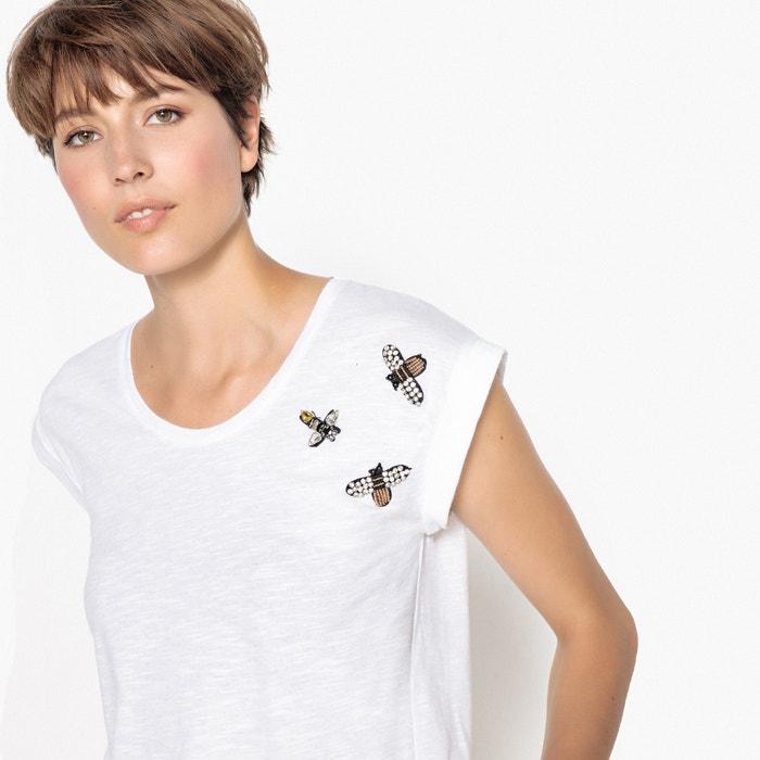con bisuter La insectos Camiseta Redoute redondo y cuello 237;a Collections estilo corta con manga qffwtBv