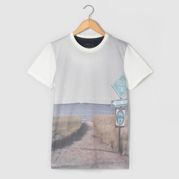 afbeelding T-shirt met fotoprint van een strand R pop