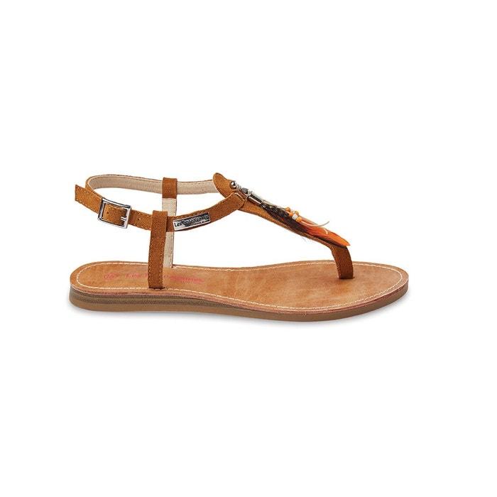 sandales cuir plates galatee camel les tropeziennes par m belarbi la redoute. Black Bedroom Furniture Sets. Home Design Ideas