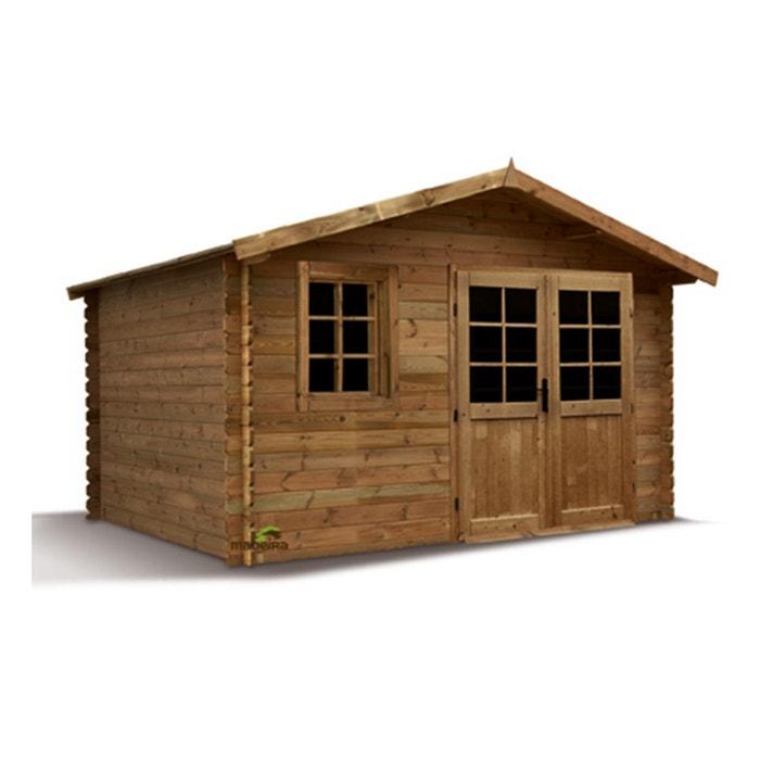 Abri de jardin bois traité Aloha 28 mm - 11,32 m²