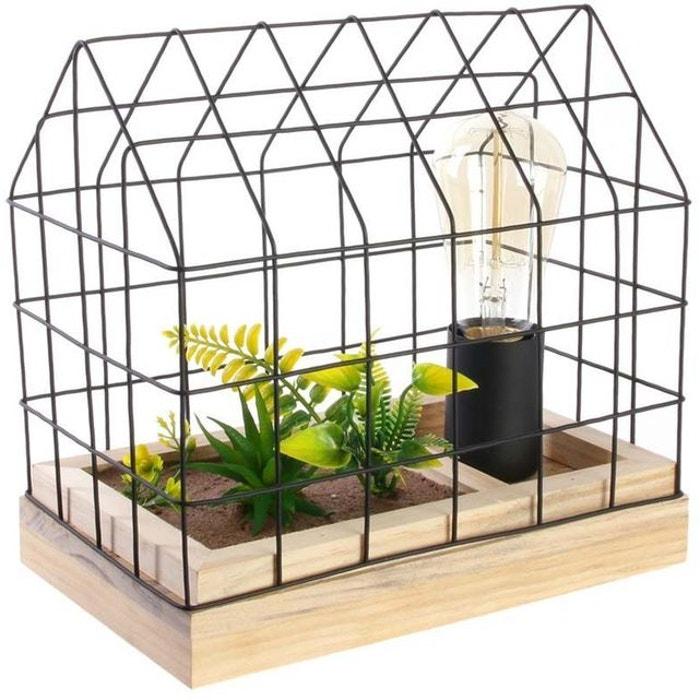 Artificielle En À Cage Poser Lampe Avec Plante UzVMSpqG
