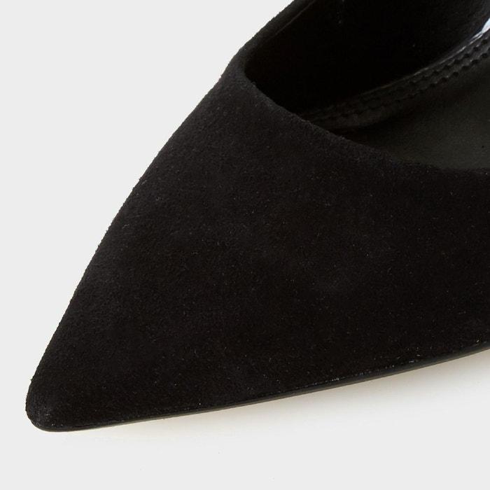 Escarpins à bout pointu et talons aiguilles - bayly noir daim Dune London