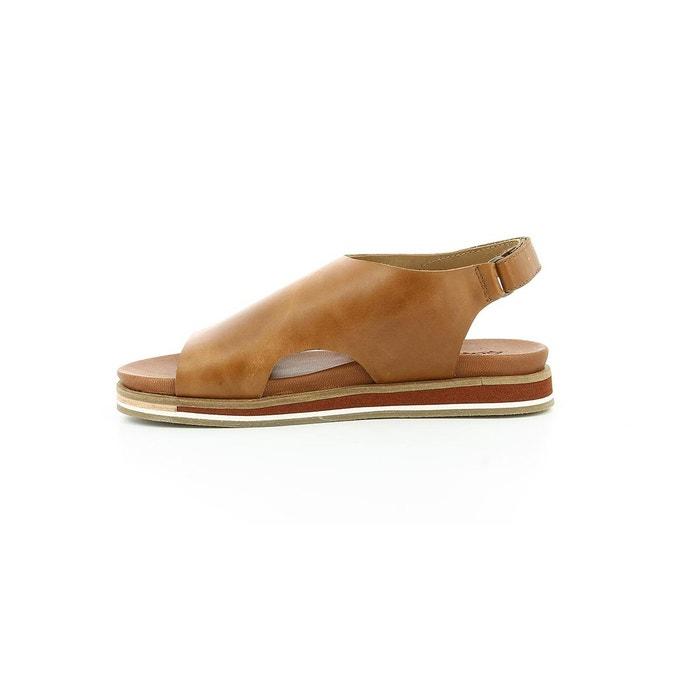 Sandales cuir femme olimpe marron Kickers