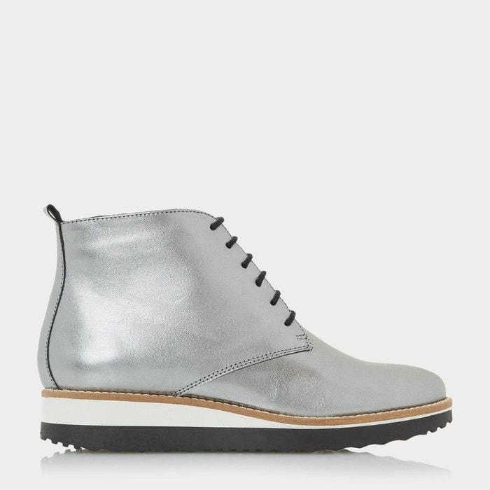 Flatform lace up ankle boot - padmore  silver métallisé Dune London  La Redoute