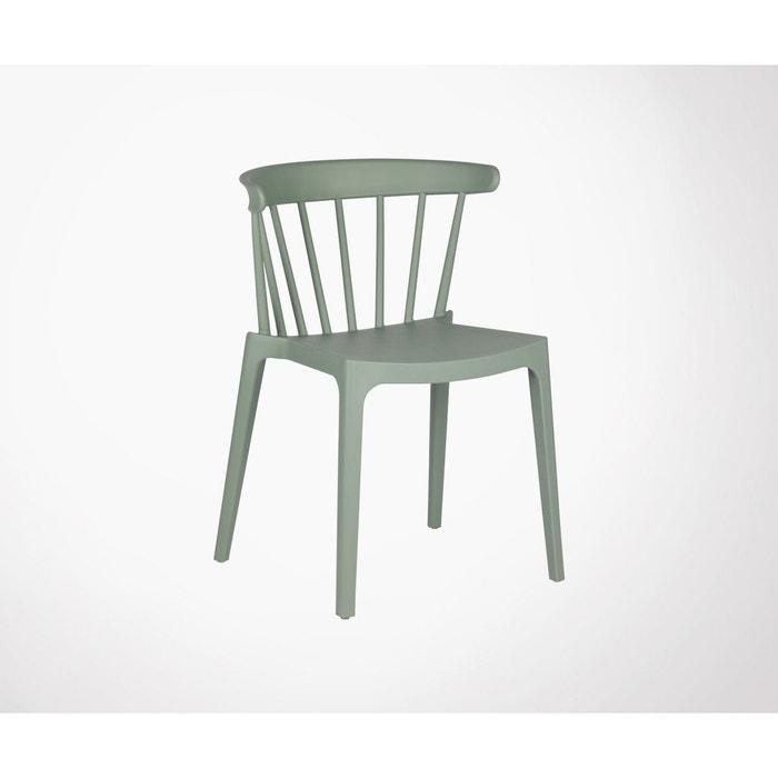 Chaise de jardin plastique moderne empilable BLISS