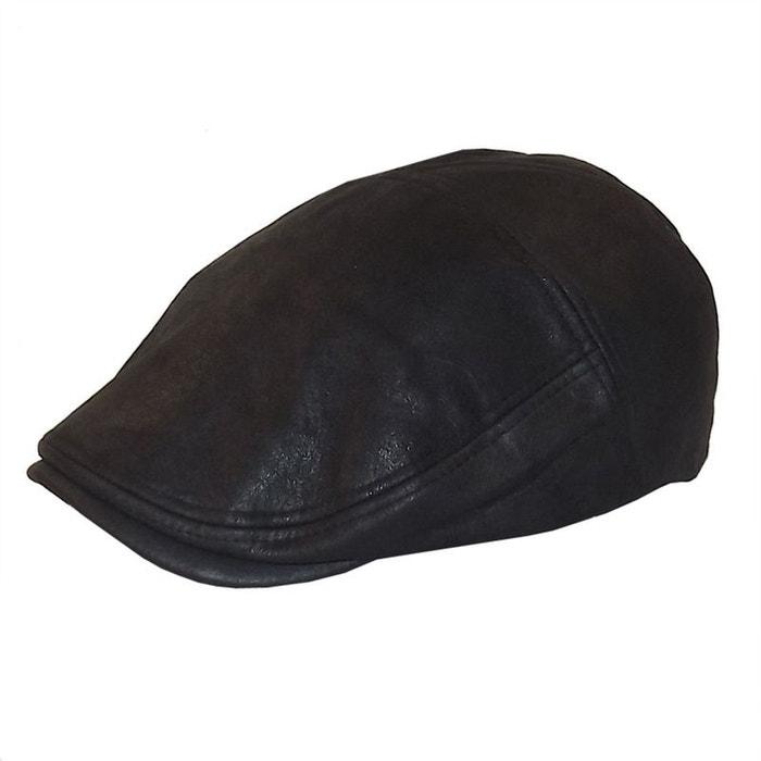 310d6bcd32a54 Casquette façon vieux cuir noir noir Chapeau-Tendance | La Redoute