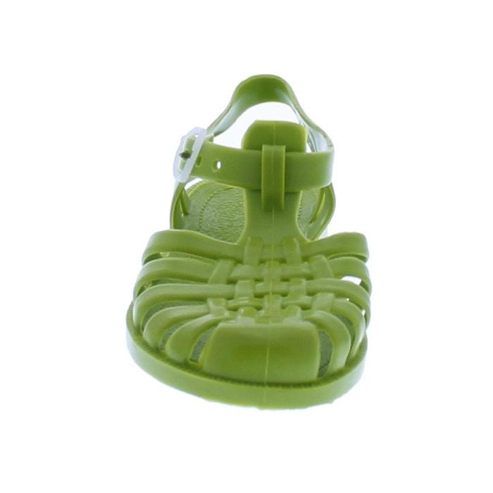 Sandales en plastique vert couleur unique Meduse