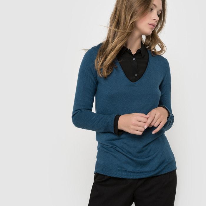Image Sweterek z dekoltem w kształcie litery V wykonany z mieszanki wełny R essentiel