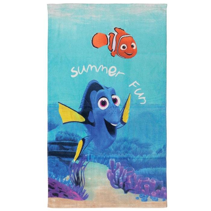 drap de plage nemo summer 100 coton 320 g m 70x120cm bleu nemo la redoute. Black Bedroom Furniture Sets. Home Design Ideas