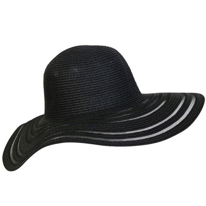 chapeau capeline noir semi transparente noir chapeau tendance la redoute. Black Bedroom Furniture Sets. Home Design Ideas