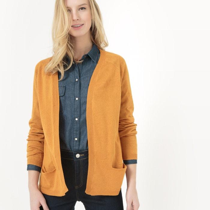 afbeelding Open vest in katoen/linnen La Redoute Collections