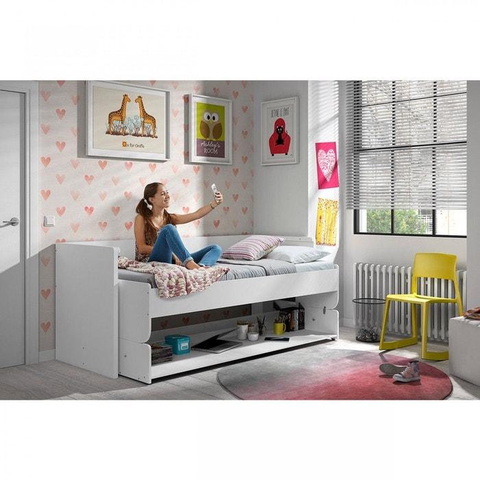 Lit bureau enfant blanc blanc Terre De Nuit   La Redoute f8a07701f1b0