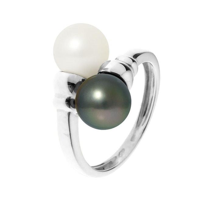 Bague toi & moi prestige or jaune 2 véritables perles tahiti & eau douce Perlinstinct | La Redoute Jeu Acheter Sortie Pas Cher Choix De La Vente s6BOOxTiz