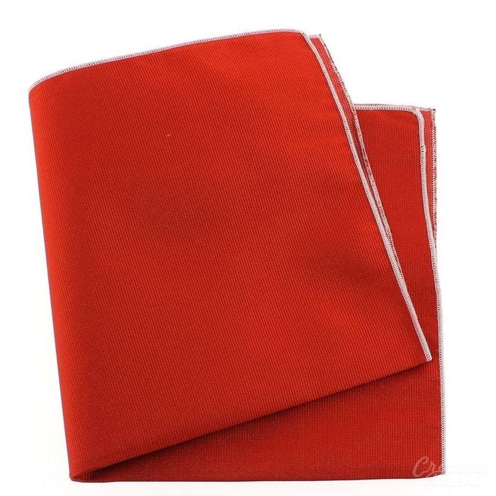 Pochette soie, rouge geraneo, ourlet rose crocus rouge Tony Et Paul | La Redoute