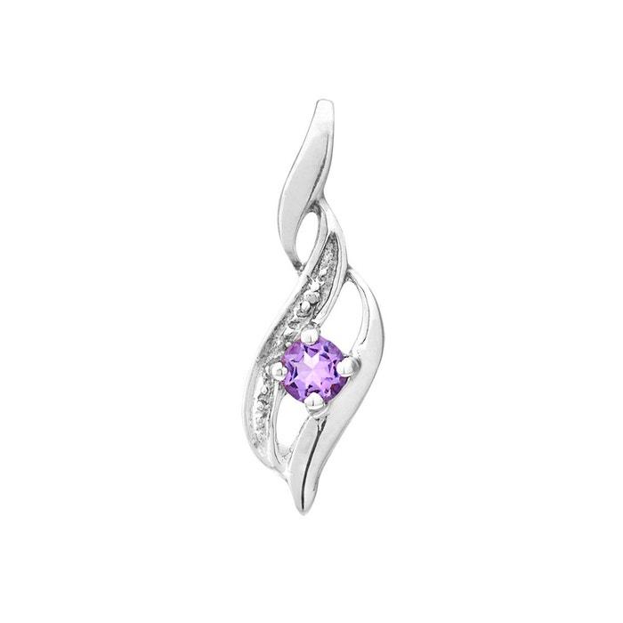 Amazon Vente Pas Cher Photos Prix Pas Cher Collier en or 375/1000 blanc et améthyste violette violet Cleor | La Redoute fzYZqT