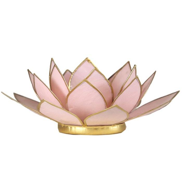 porte bougie fleur de lotus rose pastel couleur unique cbk. Black Bedroom Furniture Sets. Home Design Ideas