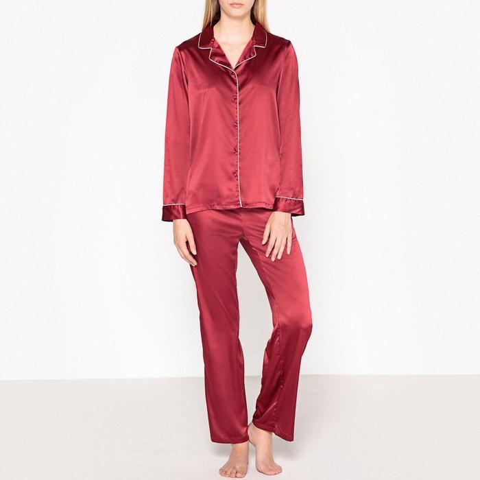 Pyjama chemise en satin  LA REDOUTE COLLECTIONS image 0