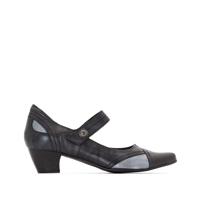 Comfortable Two-Tone Leather Heels  ANNE WEYBURN image 0